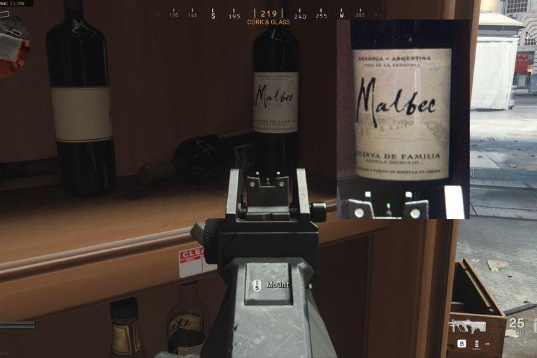 El detalle de la botella que aparece en uno de los mapas de Call of Duty Warzone