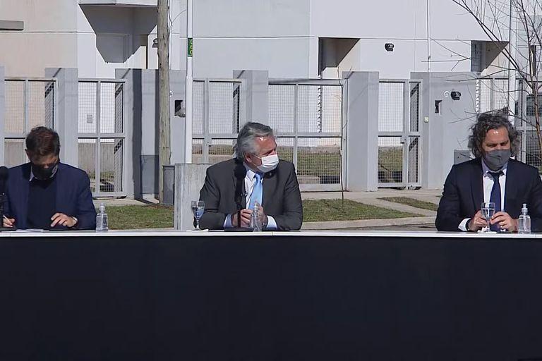 Fernández encabeza un acto en Merlo junto con Tolosa Paz