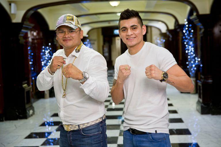 Marcos y Fabián; el ex campeón mundial eligió a su hermano para su primer combate como organizador