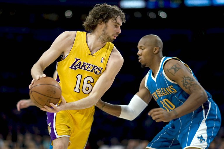Paul Gasol, en sus tiempos en Los Angeles Lakers, en