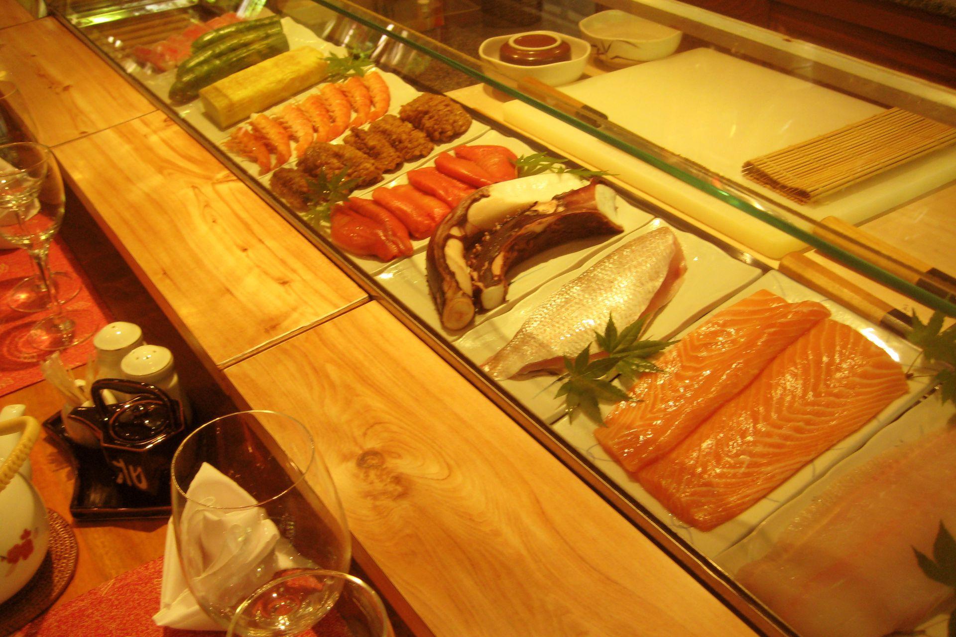 La barra de sushi de Kitayama, antes de la pandemia uno de los lugares favoritos para cenar