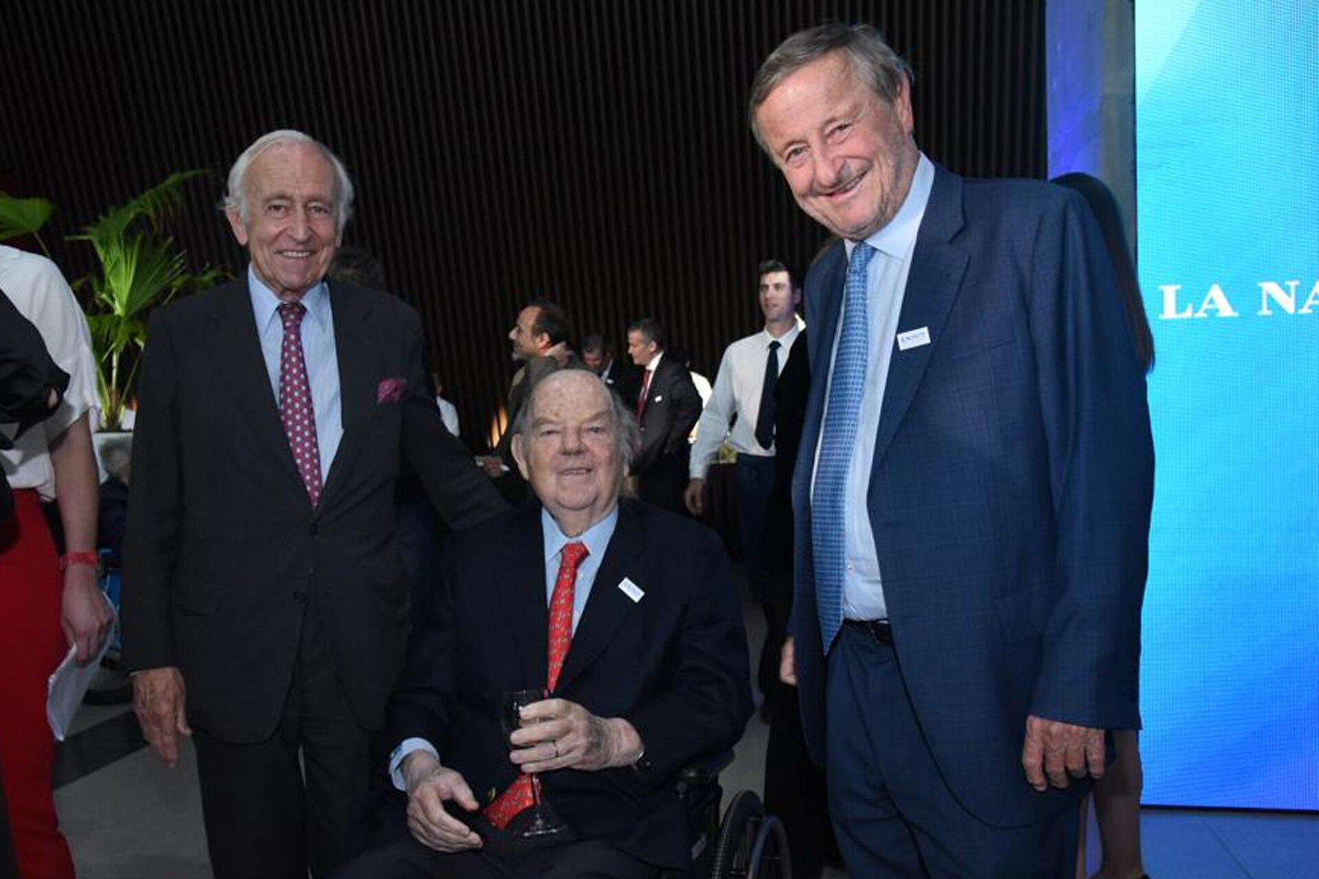 Bartolomé Mitre (centro) junto a Santiago Soldati y Cristiano Rattazzi, presidente de Fiat Argentina (derecha)