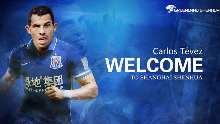 La presentación del club chino por la llegada de Carlos Tevez