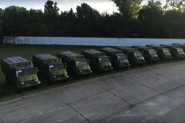 Se recuperaron integralmente 18 camiones en los cuarteles de Boulogne y fueron destinados a la OIN