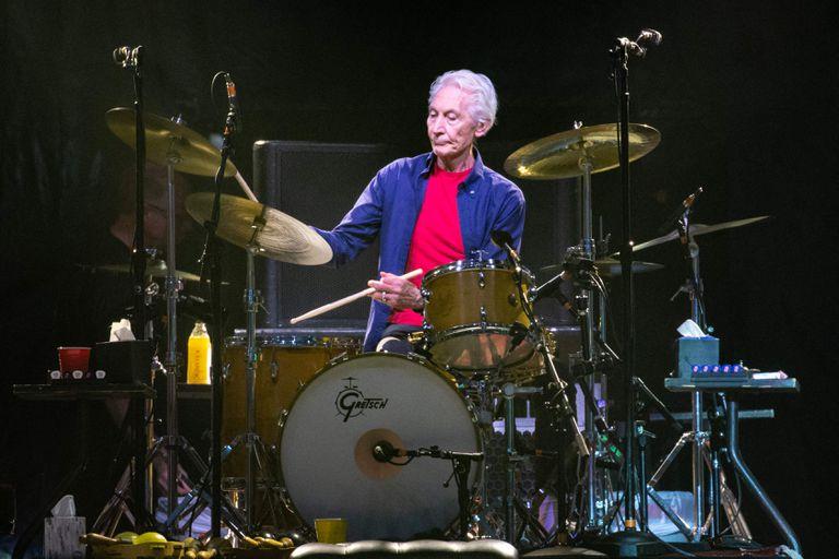 Charlie Watts en Houston, en julio de 2019. Un mes después, en Miami, realizaría su última presentación en vivo con los Rolling Stones