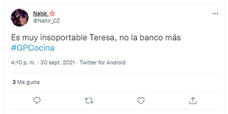 El desagrado por el comportamiento de Calandra se sintió en Twitter