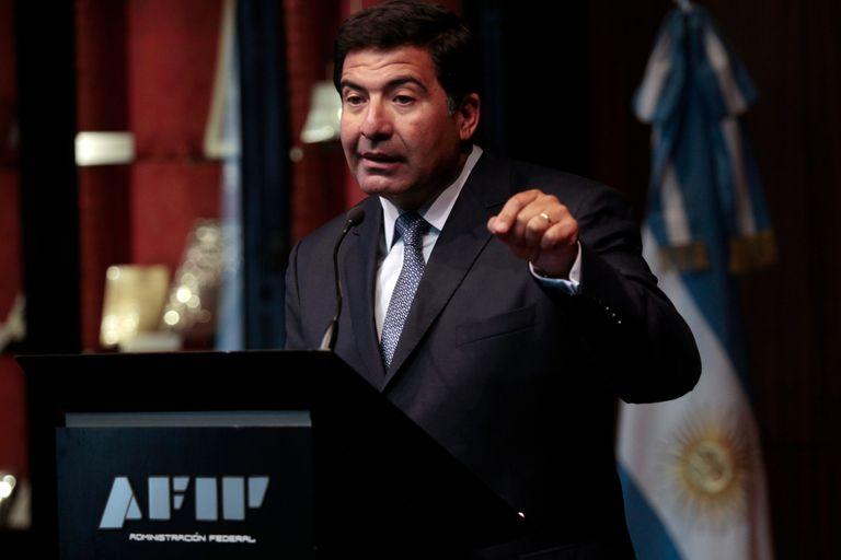 Ricardo Echegaray cuando estaba al frente de la AFIP, hoy organismo dirigido por Mercedes Marcó del Pont