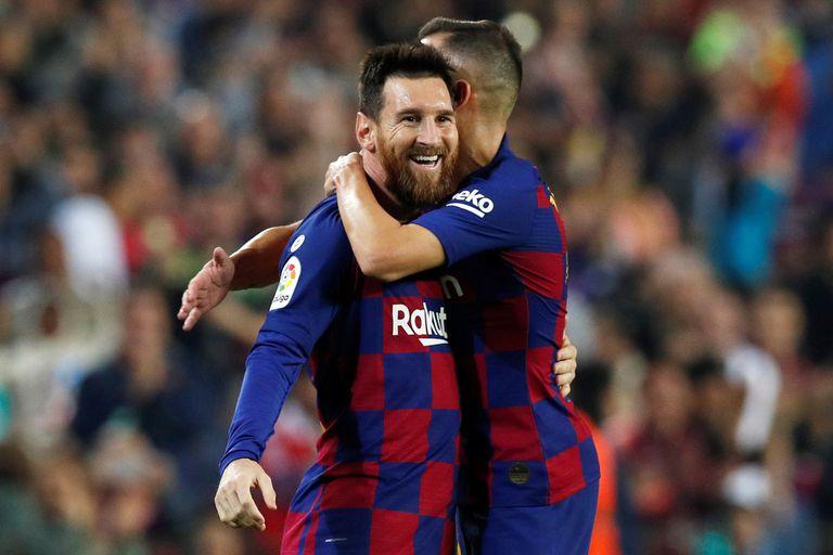 Lionel Messi marcó el tercer gol de Barcelona ante Real Valladolid