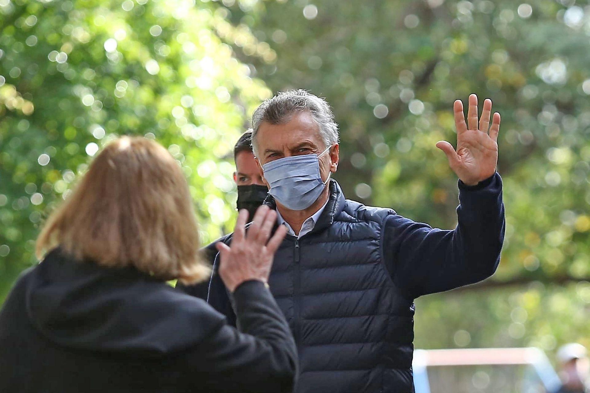 Mauricio Macri votó en la Escuela Nº 16 Wenceslao Posse en CABA