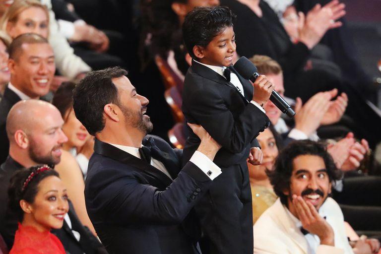 Jimmy Kimmel y el pequeño Sunny Pawar