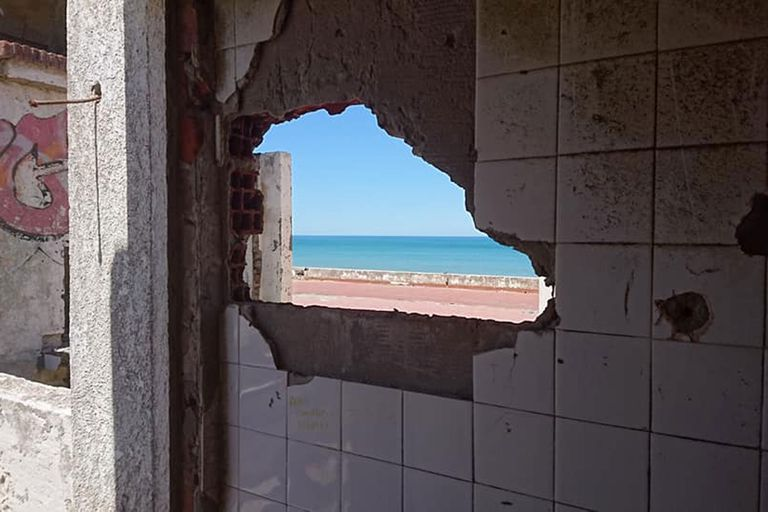 El mar desde la ruinas de El Marquesado