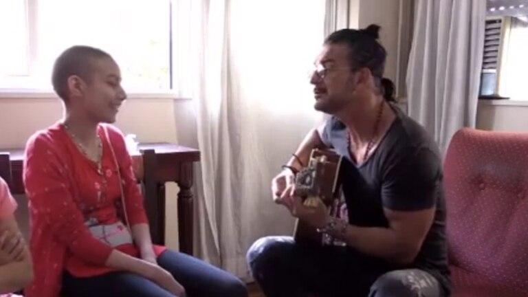 Arjona y Verónica cantaron juntos