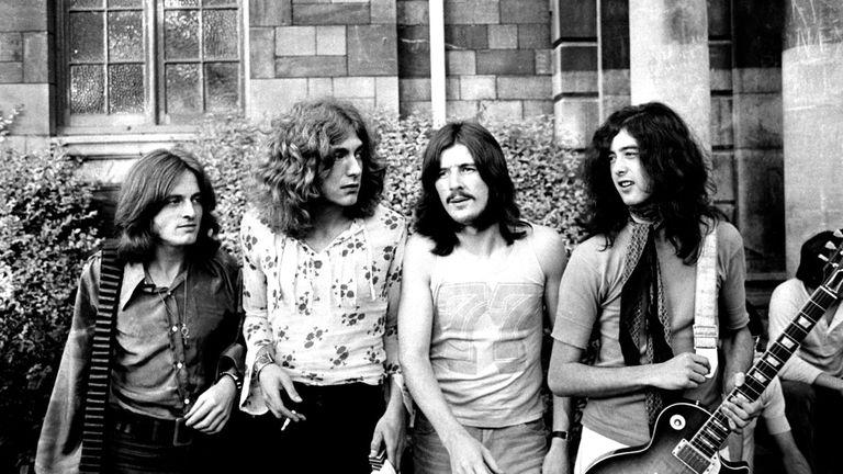 """Led Zeppelin en la época que Page y Plant escribieron  """"Stairway To Heaven"""""""