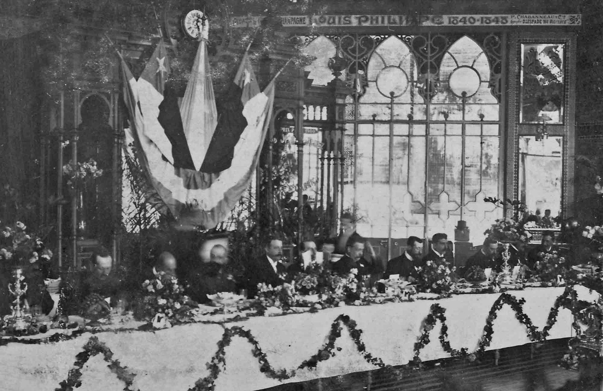 Recepción del ministro chileno Carlos Concha Subercaseaux, en el Pabellón de los Lagos. Mayo de 1903.