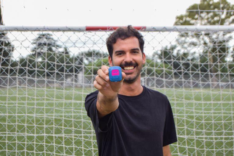 José González Ruzo, fundador de Oliver, un dispositivo que mide el rendimiento de los jugadores de fútbol