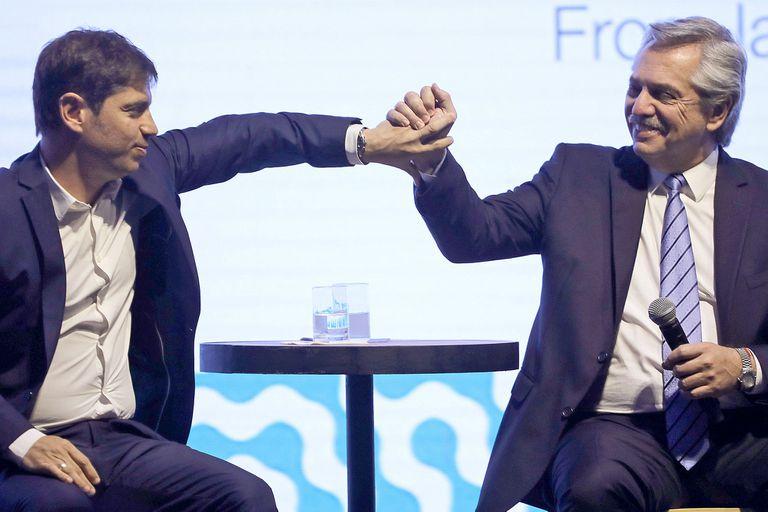 Axel Kicillof junto a Alberto Fernández