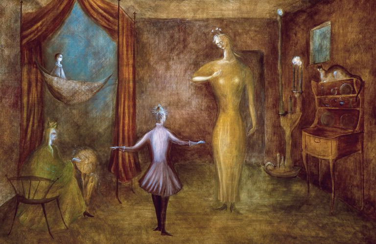 Night Nursery Everything (detalle), Leonora Carrington, 1947. Exhibida en México moderno. Vanguardia y revolución, hasta el 19 de febrero en el Malba