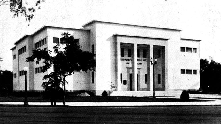 Fachada del Museo Castagnino en 1938