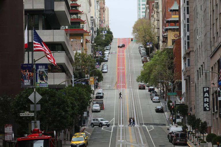 El downtown de San Francisco, en California, otro de los estados con mayor cantidad de hispanohablantes en EE.UU.