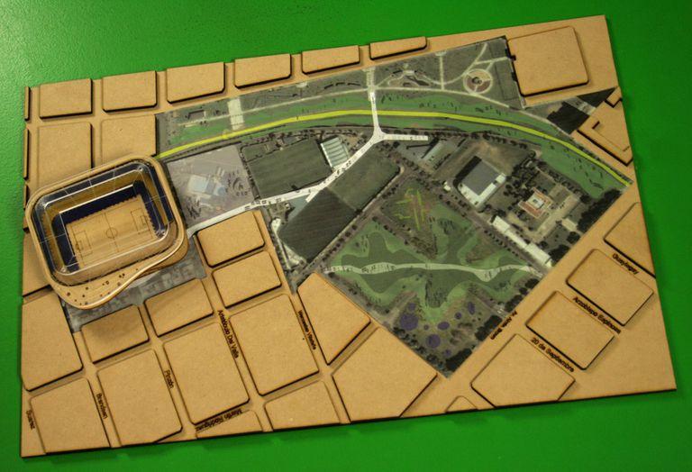 El proyecto que Facultad de Arquitectura, Diseño, Arte y Urbanismo de la Universidad de Morón le cedió a Boca en 2009, durante la primera presidencia de Ameal