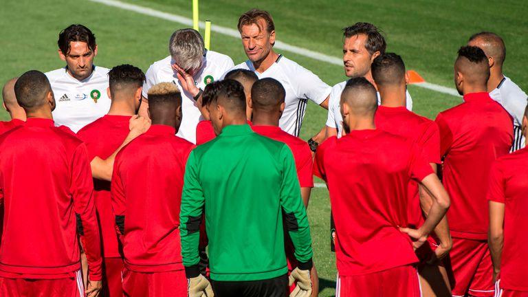 El técnico de Marruecos, Hervé Renard, confía en sus dirigidos para el partido ante los lusos