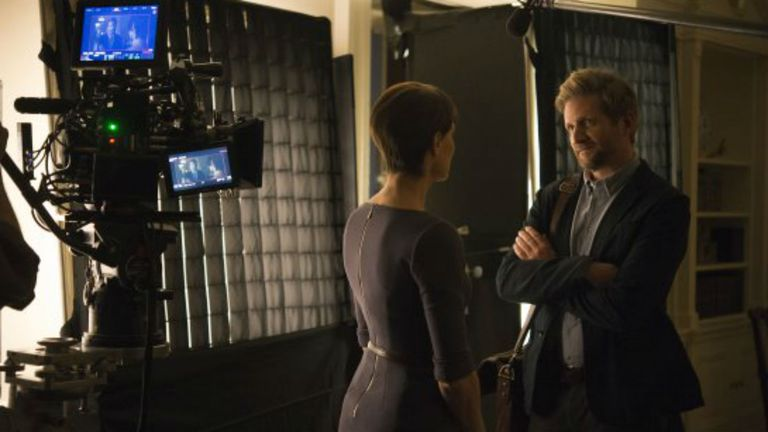 Paul Sparks en el rodaje de House of Cards
