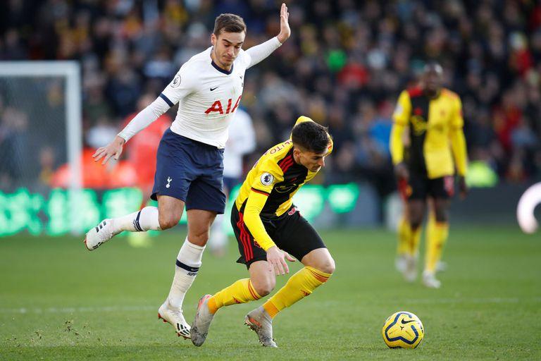 Pussetto debutó en Watford, que empató de local ante Tottenham