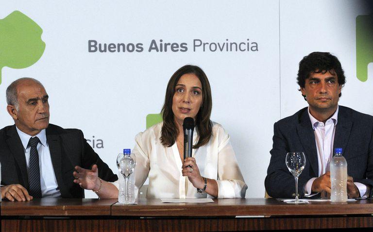 Salvador, Vidal y Lacunza, en la conferencia para anunciar la quita de impuestos