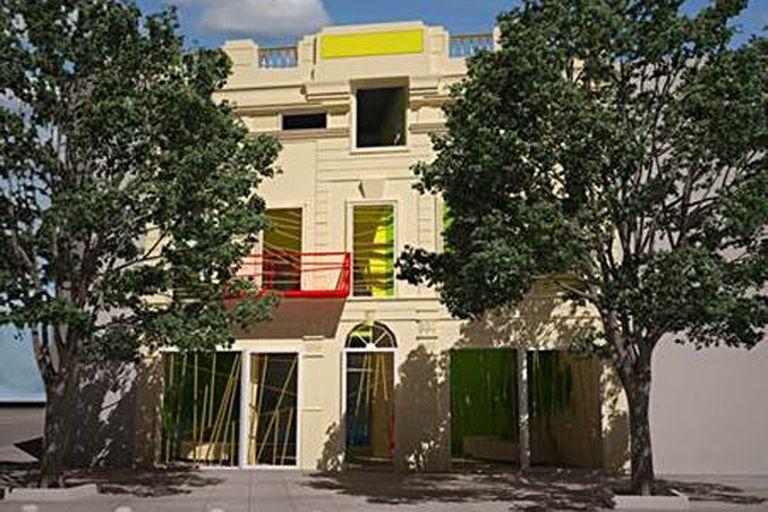 La fachada de la obra establece un diálogo entre la nueva arquitectura y los vestigios del pasado