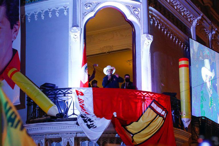 10-06-2021 El presidente de Perú, Pedro Castillo, en la sede de Perú Libre en Lima POLITICA RICARDO MOREIRA