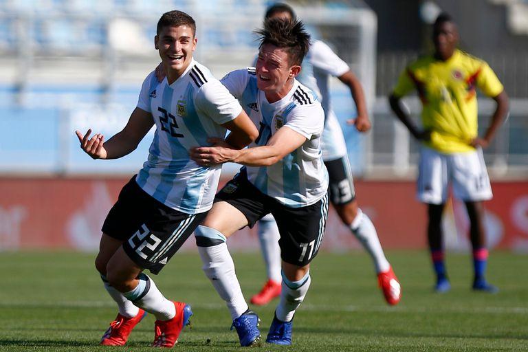 Con un golazo, el Sub 20 argentino derrotó a Colombia en el Sudamericano