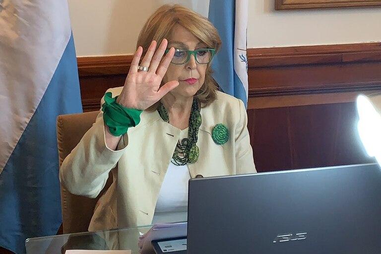 """""""Vengo a ocupar esta banca en nombre de las mujeres muertas por el aborto clandestino"""", dijo Durango"""