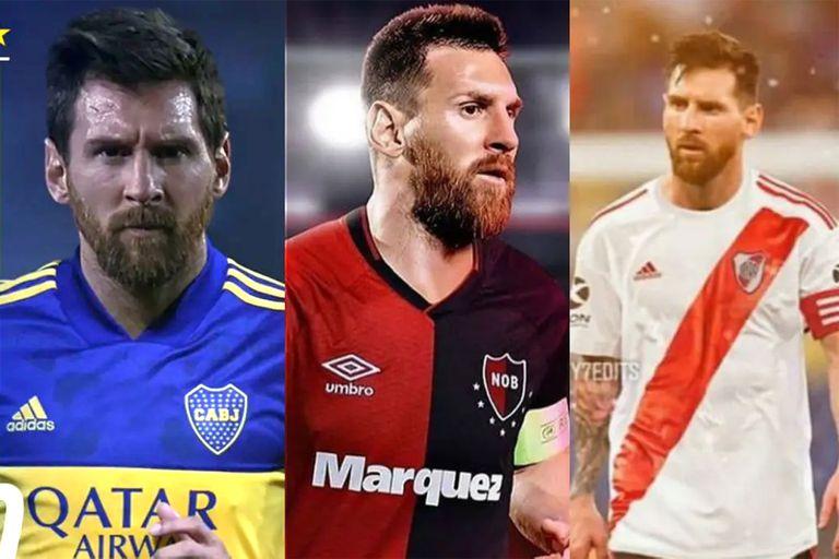 Cómo jugaría Messi en Newell's, River y Boca, según la inteligencia artificial