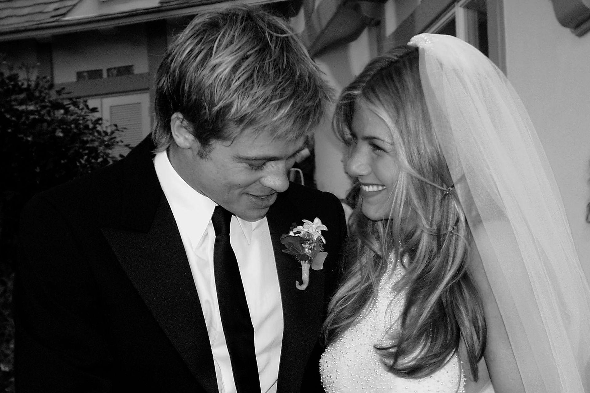 La única imagen que la pareja le cedió a la prensa en el día de su boda