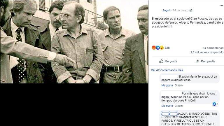 La foto publicada en Facebook