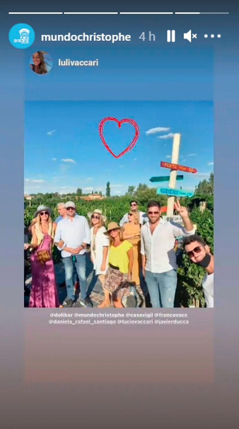 Las inesperadas imágenes de Christophe Krywonis y Dolores Barreiro, juntos en Mendoza