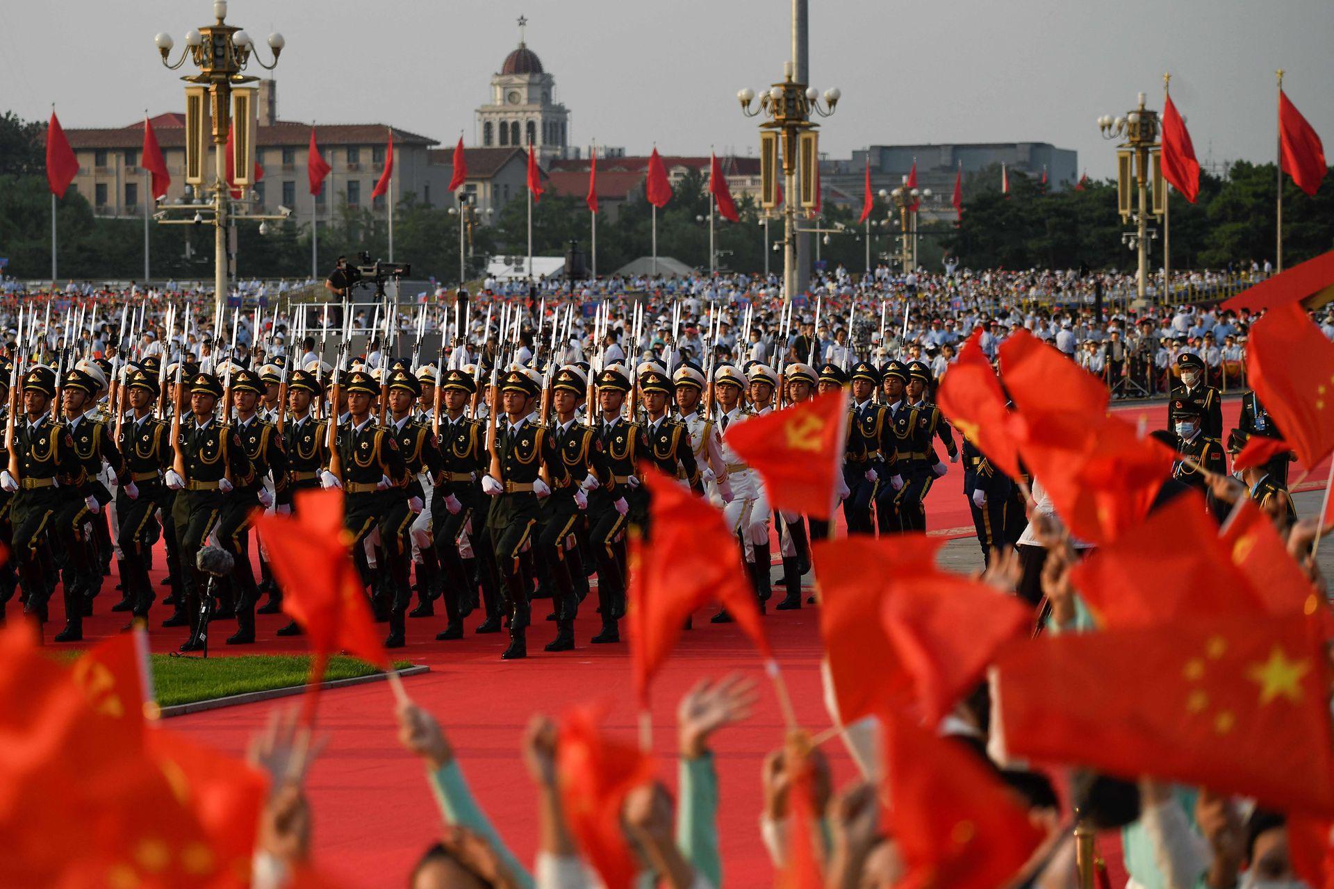 Vista del espectacular desfile