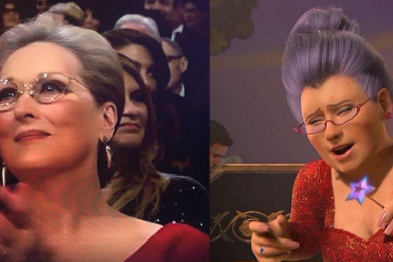 A Meryl Streep la compararon con el hada madrina de Shrek
