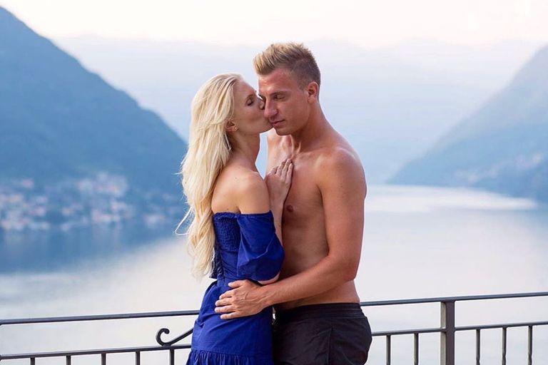 El reencuentro de Maxi López con su novia sueca Daniela Christiansson en Italia