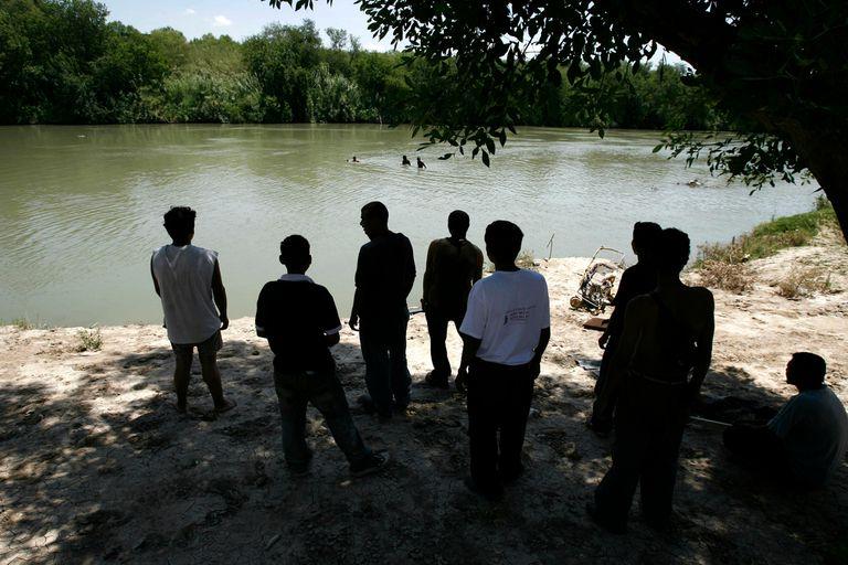 El Río Bravo separa a México de Estados Unidos y es cruzado por migrantes que llegan desde América Central