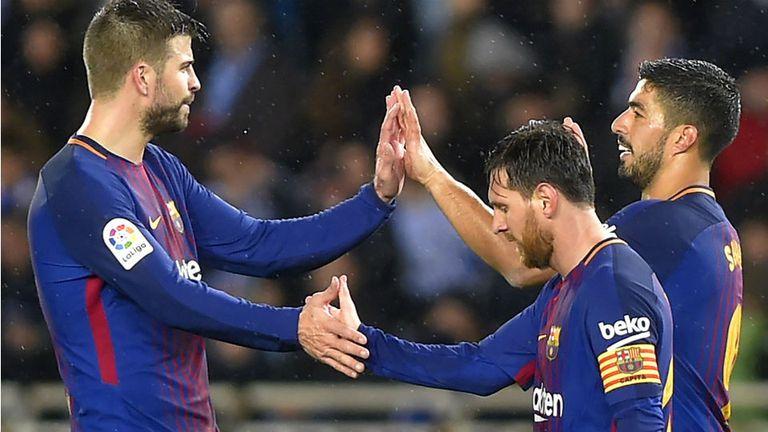 Golazos de Messi y Suárez para mantener el invicto de Barcelona en Anoeta