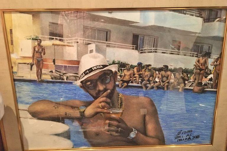 Un recuerdo de Mateo de cuando estuvo en Ibiza