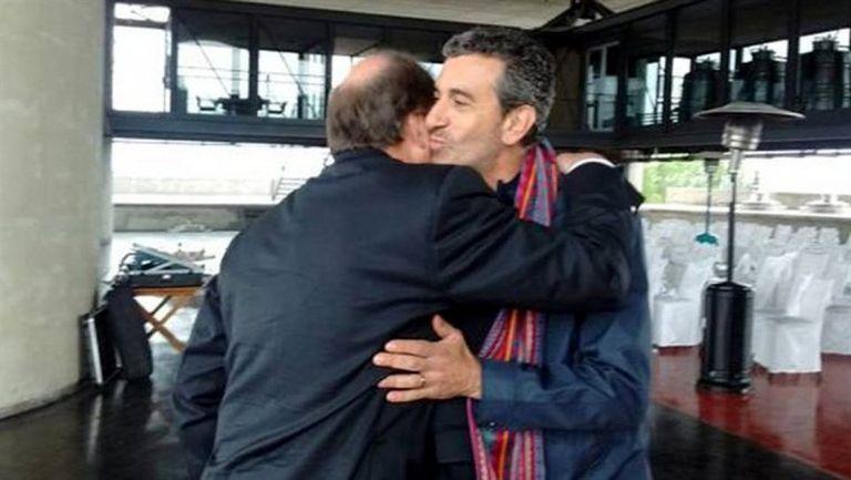Randazzo se saludó con afecto con Sanz en Mendoza