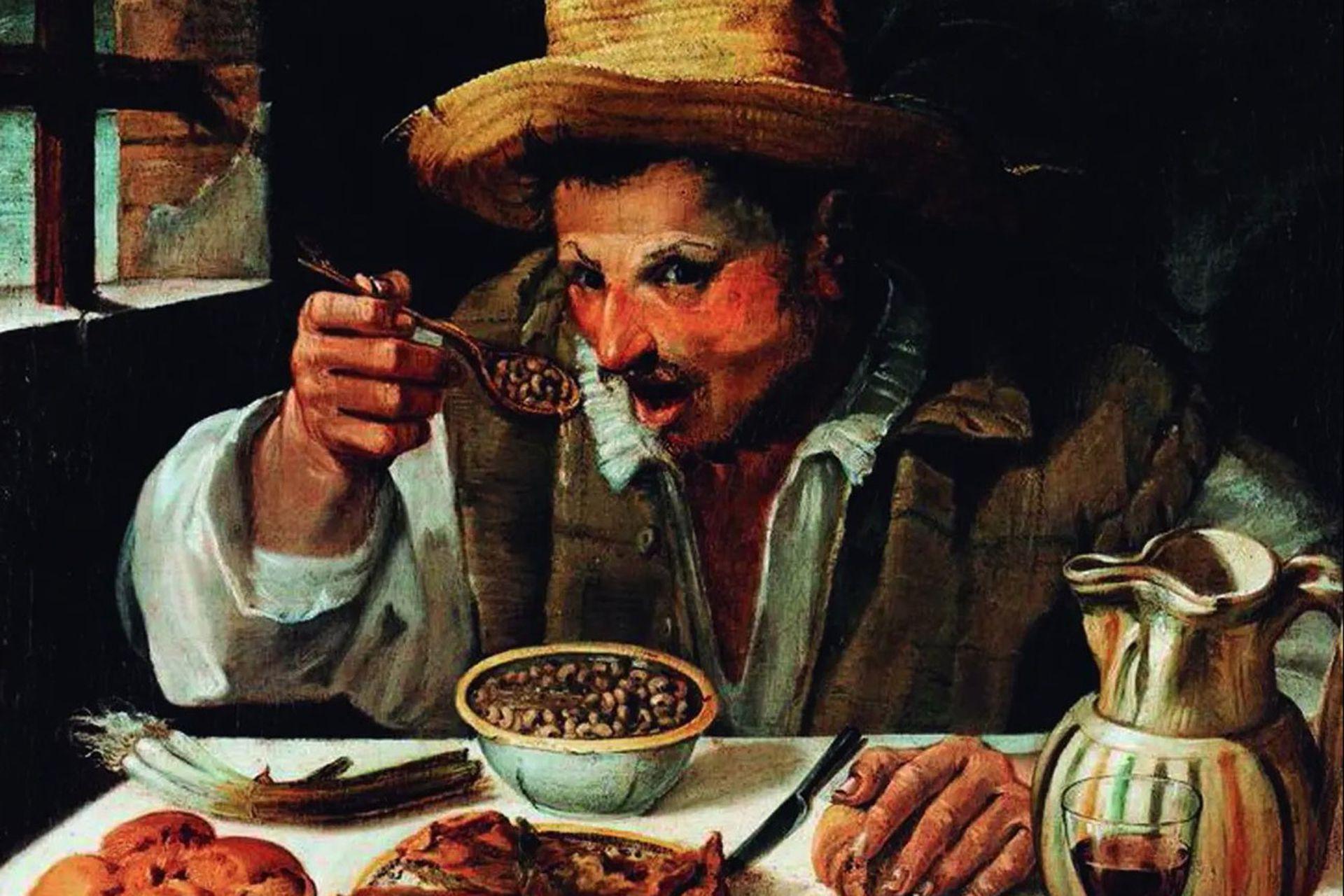 El comedor de alubias. Aníbal Carracci, 1583