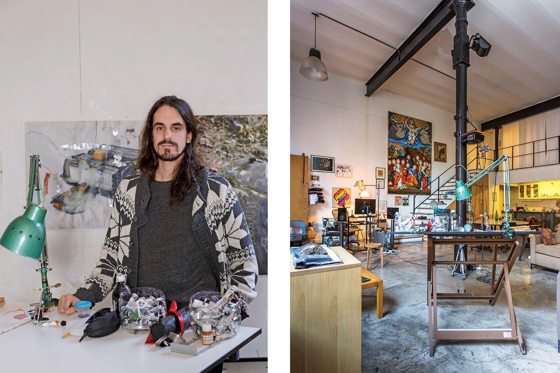 Durante años, el amplio espacio fue también taller y punto de encuentro para sus clínicas de arte. Después pasó a ser sólo su casa, pero conservando la esencia: mucho espacio y ninguna división.