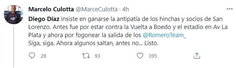 Los tuits contra Diego Díaz