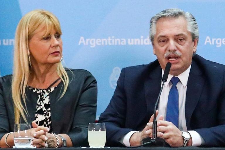 Alberto Fernández y la ministra de Justicia, Marcela Losardo