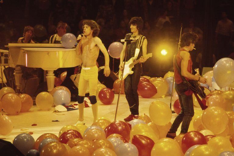 Mick Jagger, Ronnie Wood y Keith Richards en Nueva Jersey, en 1981