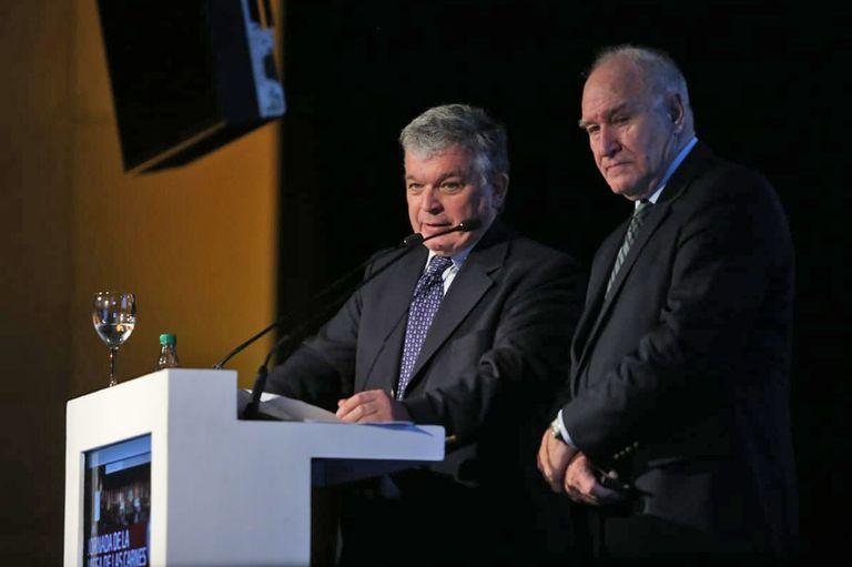 Fernando Canosa y Víctor Tonelli en la jornada de las carnes