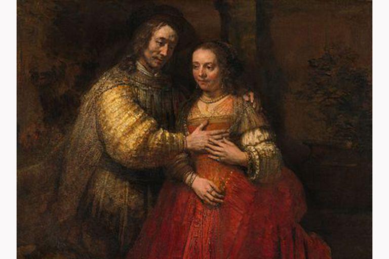 """""""La novia judía"""", una de las más famosas obrel Museo Nacional de Amsterdam"""